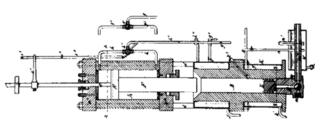 First plastic injection machine